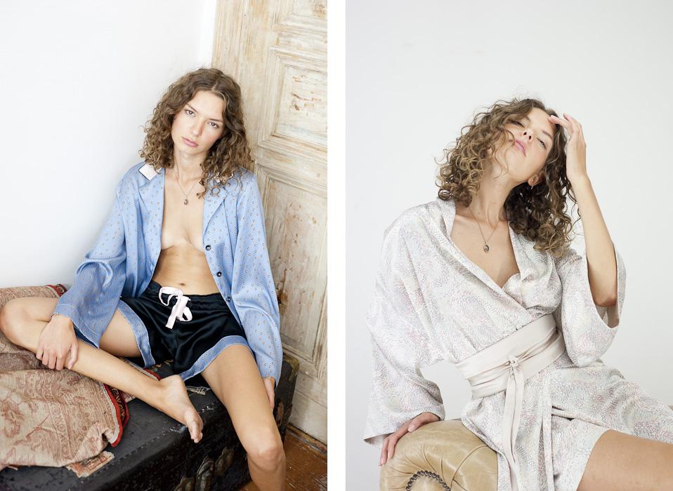 Julia Rossi, Refugio, Seiden-Kimonos, Model Line Beckmann